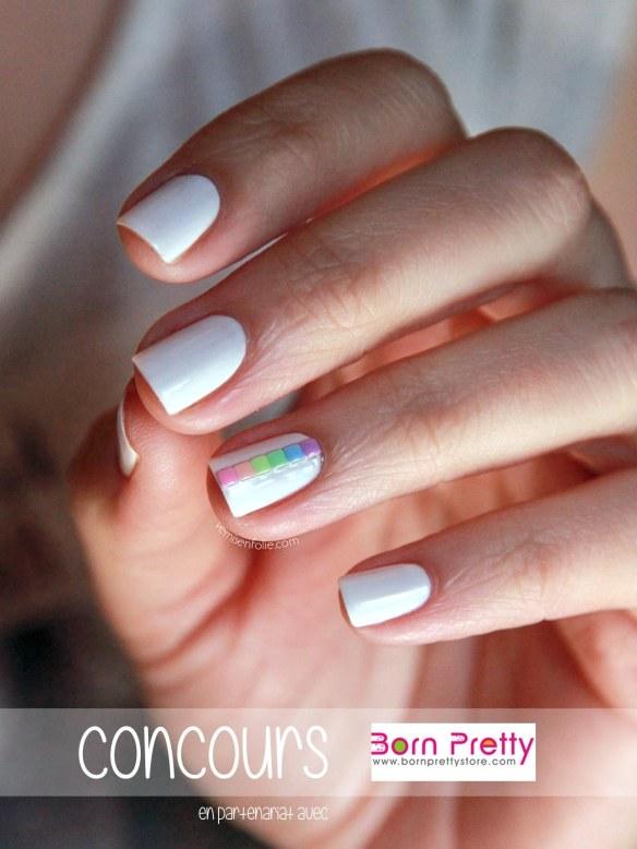 [Joyeux 3 ans // Concours #5] Arc-en-ciel de studs pastel (Born Pretty Store)